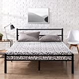 Zinus Geraldine Metal Platform Bed Frame with Headboard and Footboard / Premium Steel Slat Support / Mattress Foundation, King