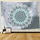 SENGE Tapestry Mandala Hippie Bohemian Tapestries Wall Hanging Flower Psychedelic Tapestry Wall Hanging Indian Dorm Decor for Living Room Bedroom