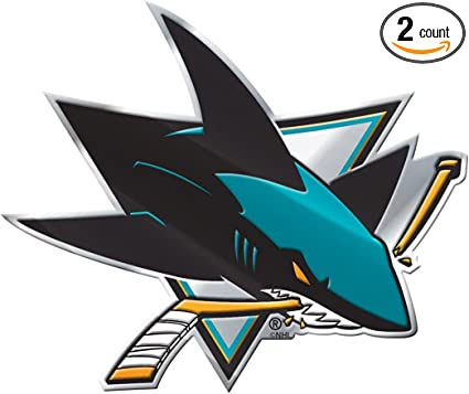 Amazon Com San Jose Sharks Color Auto Emblem Die Cut Package Of 2 Sports Outdoors