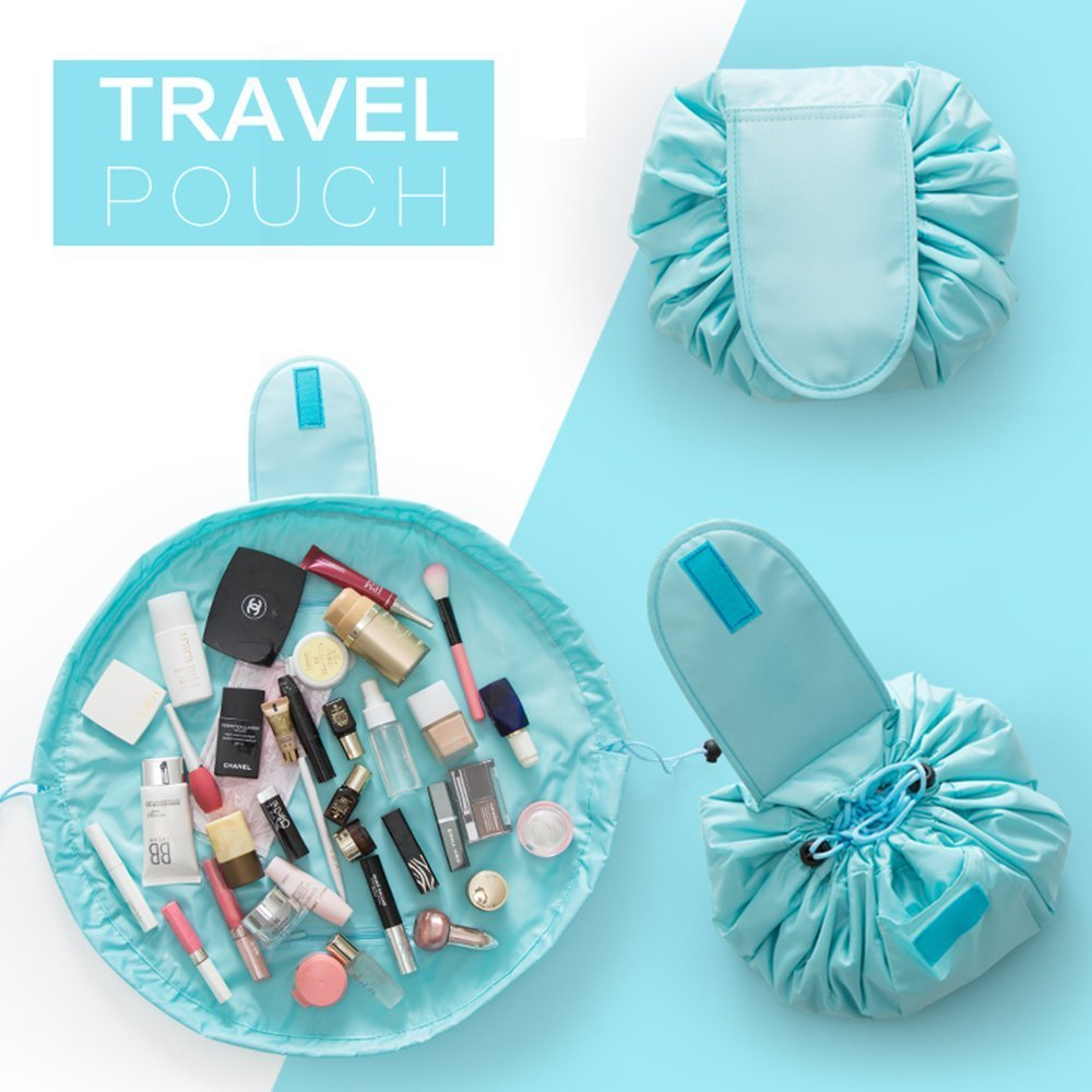 House Of Quirk Travel Bag & Makeup Bags, Cosmetic Bags Light Blue