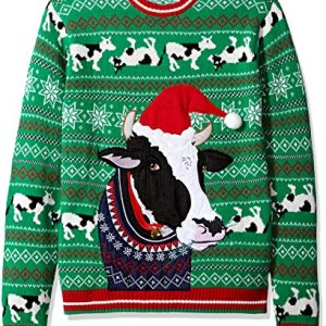Blizzard Bay Men's Cow Ugly Christmas Sweater