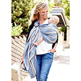 Mamaway Ring Sling Baby Wrap Carrier for Infant, Newborn, Toddler, Nursing Cover, Breastfeeding Privacy, Baby Holder, Breathable Fabric, 100% Cotton-Bohemian
