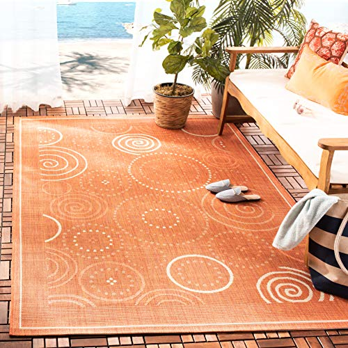 Safavieh CY1906-3202-7SQ Courtyard Collection Area Rug, 6'7