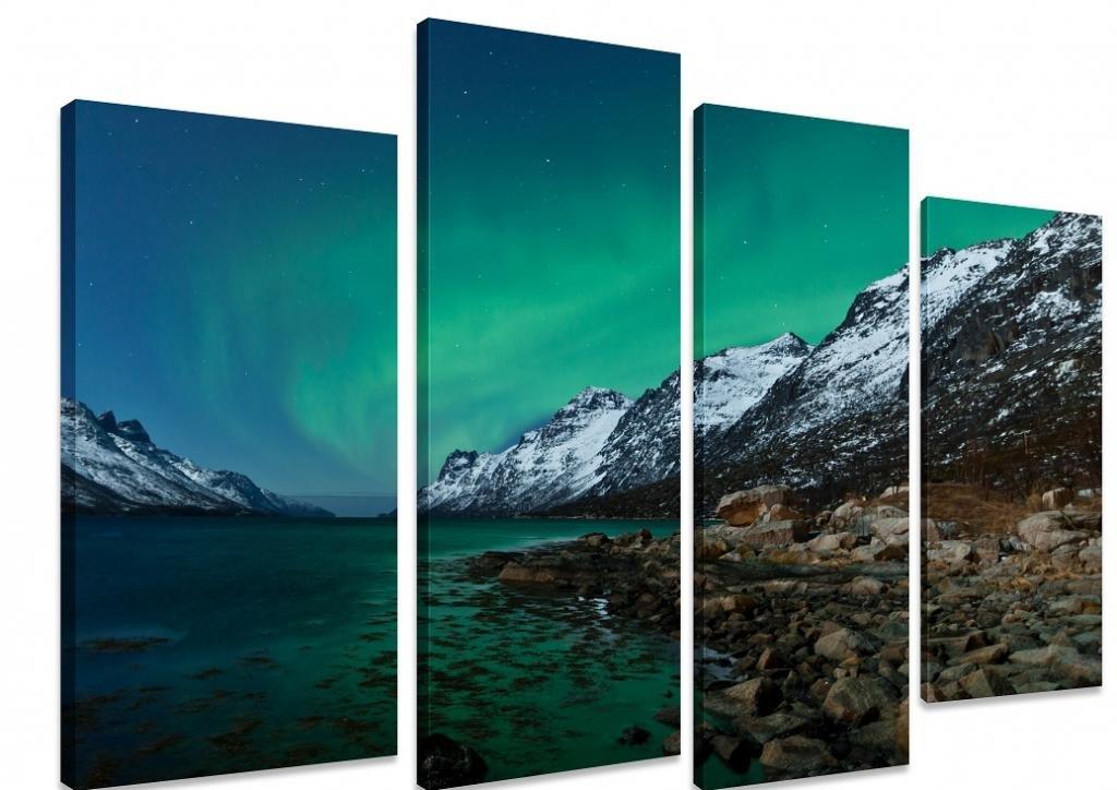 Pannelli decorativi a tema Aurora Boreale - Regali per viaggiatori nordici