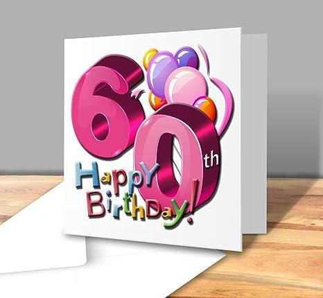 Biglietto Di Auguri Di Buon Compleanno 60 Anni Femmina