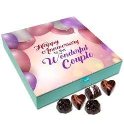 Chocholik Anniversary Gift Box – Happy Anniversary to The Wonderful Couple Chocolate Box – 9pc