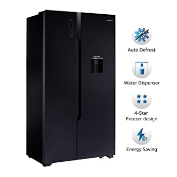 AmazonBasics 564 L Frost Free Side-by-Side Refrigerator