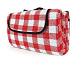 Camco 42801 Picnic Blanket (51' x 59', Red/White)