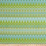P Kaufmann Annie Selke Ila Chenille Jacquard Fabric, Light Green