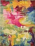 Unique Loom Estrella Collection Colorful Abstract Multi Area Rug (9' 0 x 12' 0)