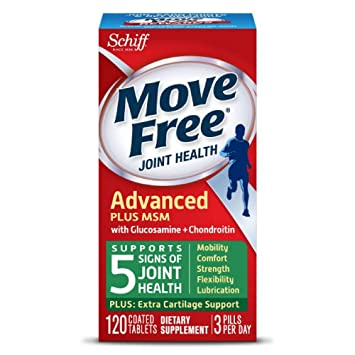Move Free Joint Health Supplement Tablets 120 Count In A Bottle Supports Mobility Flexibility Strength Lubrication And Comfort