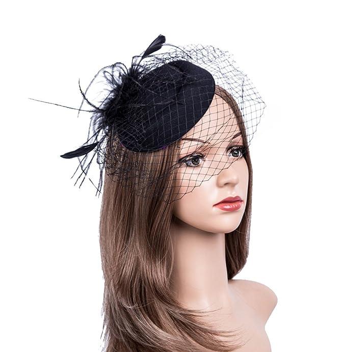 tocado negro para mujer elegante y clasicohttps://amzn.to/2QDYRk1