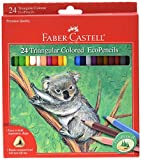 Faber Castell Triangular Colored EcoPencils - 24 Count