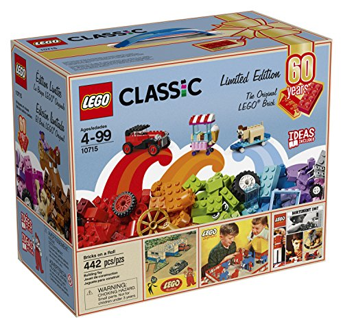 LEGO Classic Bricks on a Roll 10715 - 60th Anniversary Limited Edition - 442 Pieces Exclusive