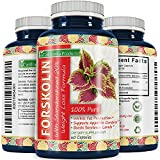 Best Forskolin Weight Loss Supplement for Men and Women  Coleus Forskohlii Extract Standardized 20% Forskolin Diet Pills Fat Burner Energy Booster Potent Appetite Suppressant