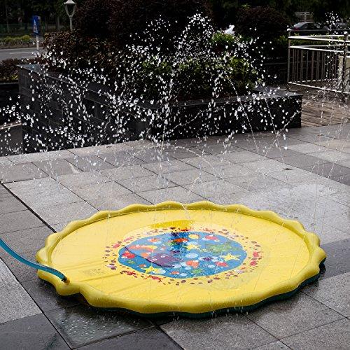 HALOFUN 67in-Diameter Sprinkle and Splash Play Mat for Kids Summer Gifts