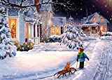 Christmas Night Christmas Cards - Box of 15 Cards & 16 Foil Lined Envelopes