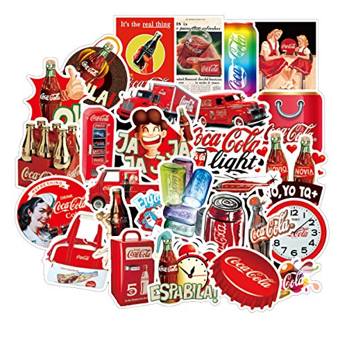 Coca Cola Waterproof Sunlight-Proof DIY Ideals for Cars Motorbikes Skateboard Spinner Luggages Laptops