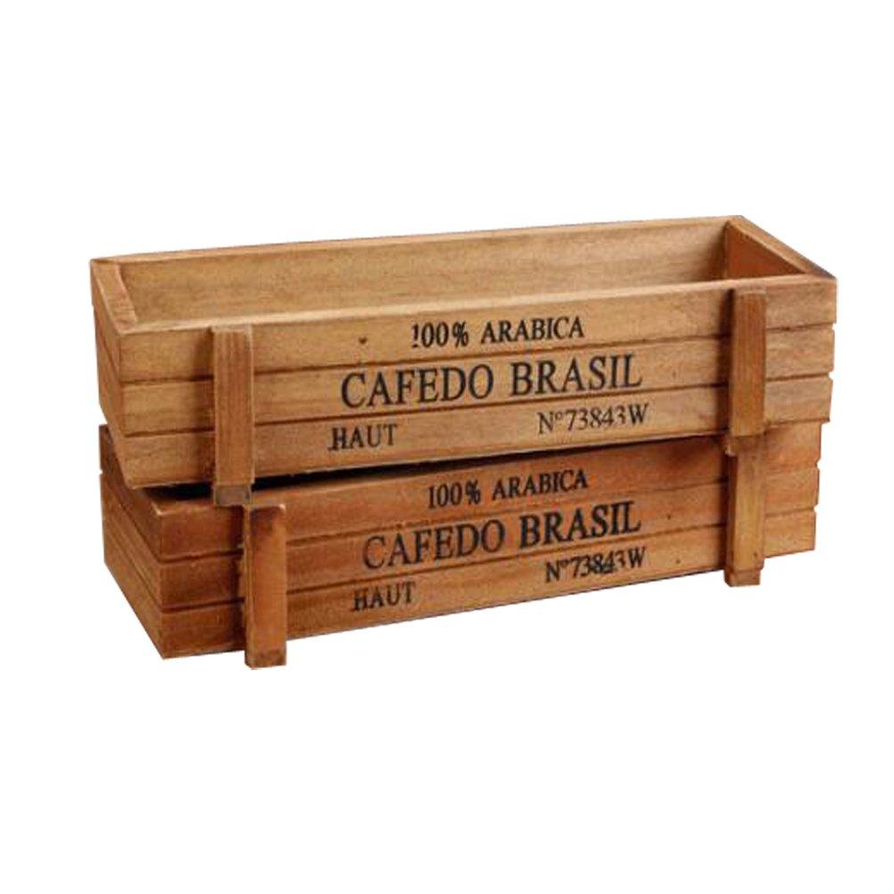 Maceta de madera caja contenedora.