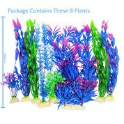 Otterly-Pets-Plastic-Plants-for-Fish-Tank-Decorations-Large-Artificial-Aquarium-Decor-and-Accessories-8-Pack