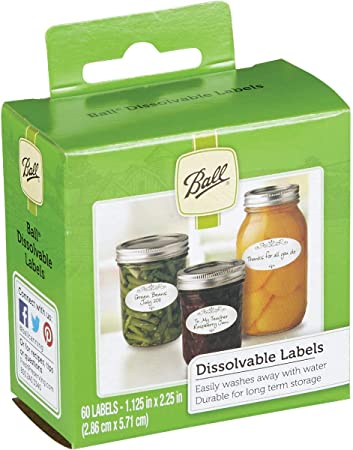 Ball Dissolvable Canning Labels (60 labels)