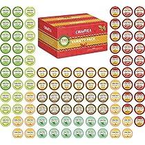 Cha4TEA 100-Count K Cups Tea Variety Sampler Pack for Keurig K-Cup Brewers, Multiple Flavors (Green Tea, Black Tea, Jasmine, Earl Grey, English Breakfast, Oolong Green Tea, Peppermint, Chai Tea)