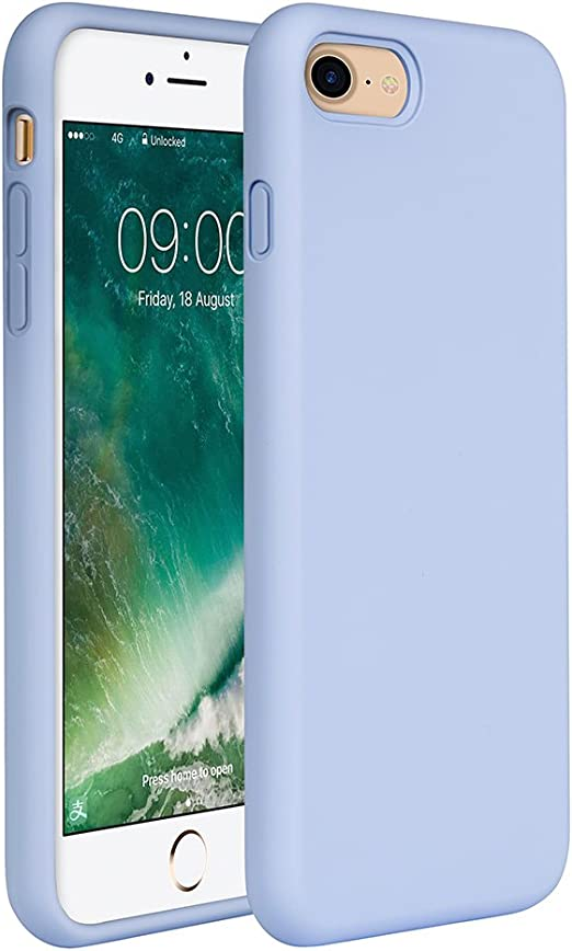 Amazon Com Miracase Iphone Se 2020 Case Iphone 8 Case Iphone 7 Silicone Case Gel Rubber Full Body Protection Cover Case Drop Protection For Apple Iphone Se 2020 Iphone 8 Iphone 7 4 7 Clove Purple