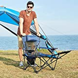 RORAIMA Light Weight Backpacking Reclining/Lounging Camping Folding Chair with Headrest and Footrest for Outdoor Camping, RV, BBQ, Football Games