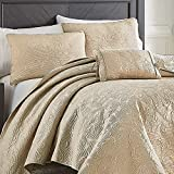 Croscill Cosette King Quilt, Taupe