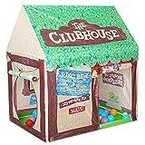 Unichart Kids Play Tent Pretend Club House Boy Indoor Outdoor&Indoor Pop up Playtents, Chocolate