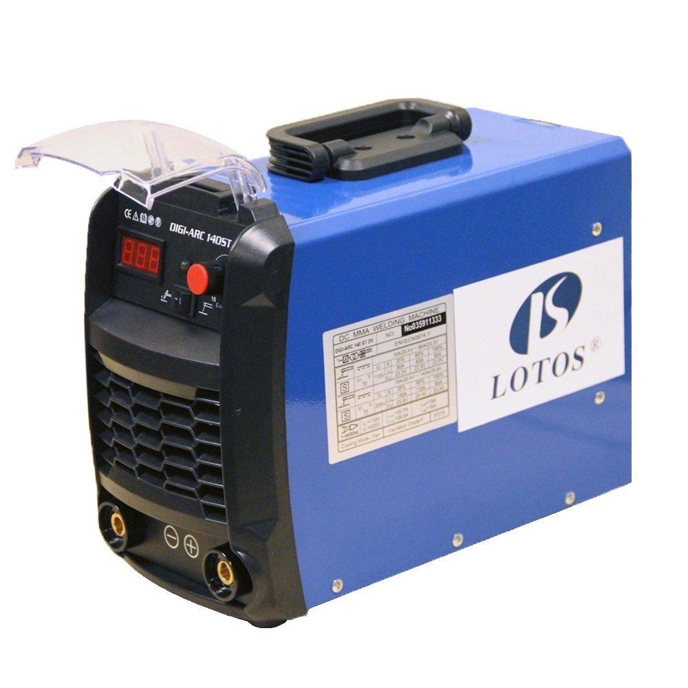 Lotos Technology TIG140 140 Amp DC TIG/STICK Welder, IGBT, Dual Voltage, Blue