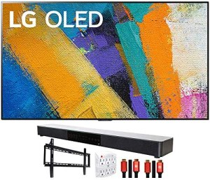 LG OLED55GXPUA 55″ GX 4K Smart OLED TV (2020) with Deco Gear Home Theater Bundle
