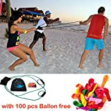 Mealivos 200 Yard 3 Person Water Balloon Launcher with 100 Balloons