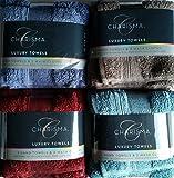 Charisma Luxury Hand Towel & Wash Cloth Set - 100% Hygro Cotton, Summer 2015 Colors (Walnut)