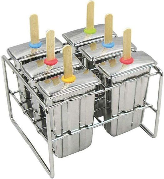 Onyx Stainless Steel Popsicle Molds