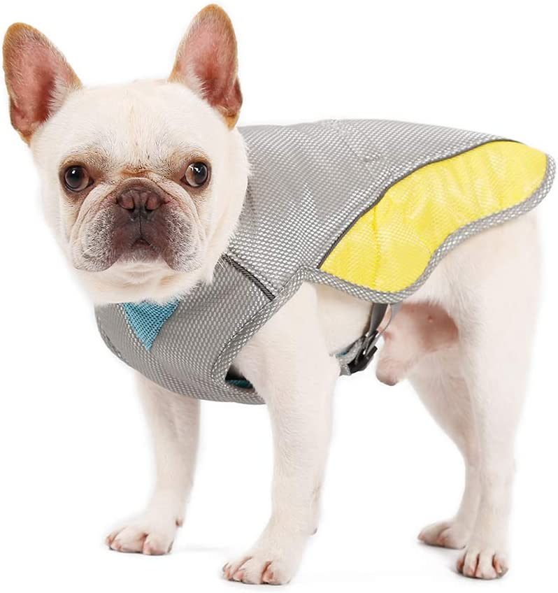 Penivo Verano Guay Perros Arnés Tipo Chaleco para Perros Pequeños Medianos Grandes Chaleco de enfriamiento Ajustable Ropa Hielo Mascota Collar (XXL)