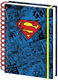 Superman A5 Comic Logo Design Notebook