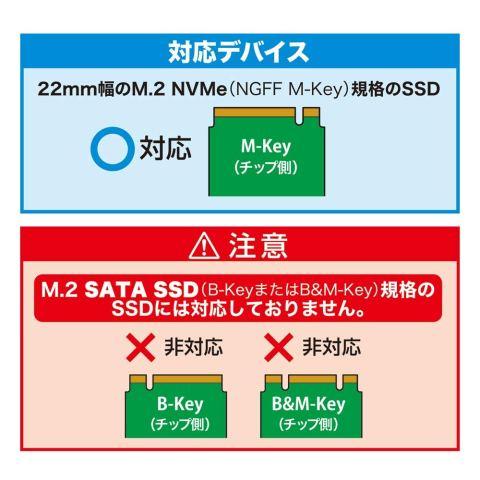 センチュリー 『M.2 NVMe SSD to USB3.1 Gen.2 アルミケース』 NVMe M.2 SSD専用ケース CAM2NVU31C