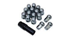 RTL Chrome Security Locking Nuts for All Maruti Vehicles Thread (12 x 1.25) 16 Pieces