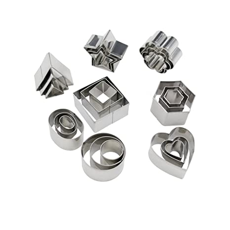 Geometric Mini Cookie Cutters Set