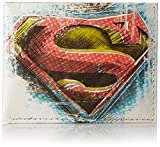 Mighty Wallet Men's Leather Billfold Wallet, Multi-superman, One Size