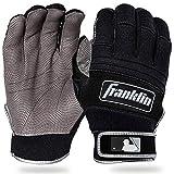 Franklin Sports MLB Adult Cold Weather Pro Batting Glove, Pair, Large, Black/Black