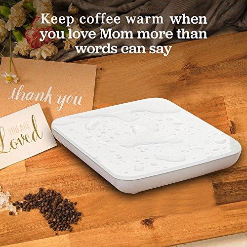 Coffee Warmer Cup Mug Warmer Heated Personal Coffee Mug Warmer Auto Shut Off Desktop Mug Cup Warmer Electric Beverage Warmer Hot Coffee Plate For Office&Home Hot Cocoa Tea Water Milk Soup by Timcare