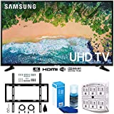 Samsung UN50NU6900 50' NU6900 Smart 4K UHD TV (2018) w/Wall Mount Bundle Includes, Wall Mount Kit for 45-90 inch TVs, Screen Cleaner (Large Bottle) and SurgePro 6-Outlet Surge Adapter w/Night Light