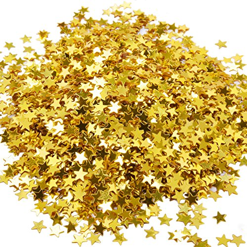 eBoot Star Confetti Golden Star Table Confetti Metallic Foil Stars Sequin for Party Wedding