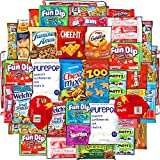 College Care Package (40 Count) Snacks Cookies Bars Chips Candy Ultimate Variety Gift Box Pack Assortment Basket Bundle Mixed Bulk Sampler Treats College Students Office Fall Semester Back to School