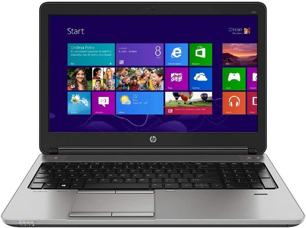 "HP PROBOOK 650 G1 15.6"" LAPTOP INTEL CORE i5-4300M 4th GEN 2.6GHZ WEBCAM 16GB RAM 256GB SSD WINDOWS 10 PRO 64BIT (Renewed)"