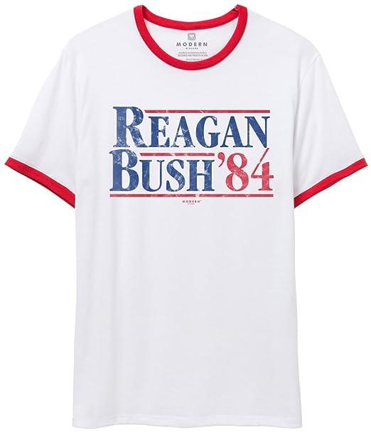Superluxe Clothing Mensunisex Reagan Bush 84 Vintage Ringer T Shirt