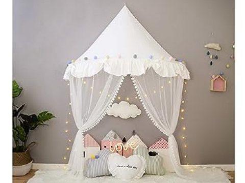 baldachin kinderzimmer betthimmel babybett baldachin kinderzimmer moskitonetz bett baby zelt  spielen zimmerdekoration für babys, mädchen, jungen, mückenschutz wft