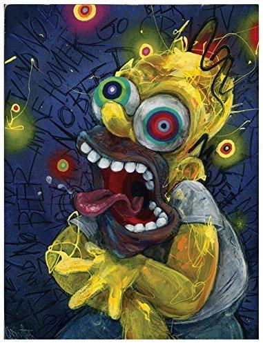 Homer Art Print The Simpsons Simpson Wall Cartoon